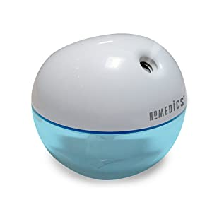HoMedicsPersonal Ultrasonic Humidifier | 200 ML Reservoir, 4 Hour Runtime, Travel Size, Single Touch Operation, Whisper-Quiet | Includes AC & USB Adaptors, BONUS- 3 FREE WICK FILTERS