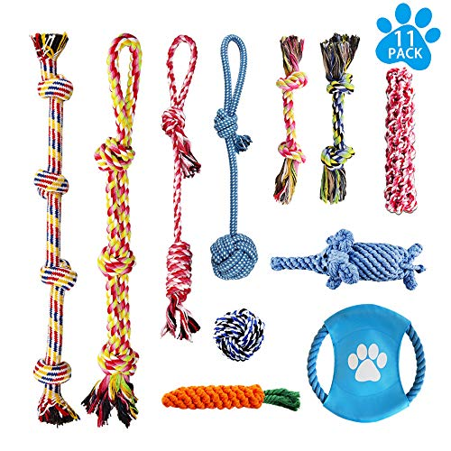 LOUTAN Dog Rope Toys for Aggressive Chewers Durable Tough Large Dog Chew Toys – Indestructible Small Dog & Puppy…