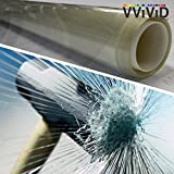 VViViD Clear Protective 4mil Vinyl Window Glass Wrap Shatterproof Security Film 17.75 x 60 Roll by VViViD