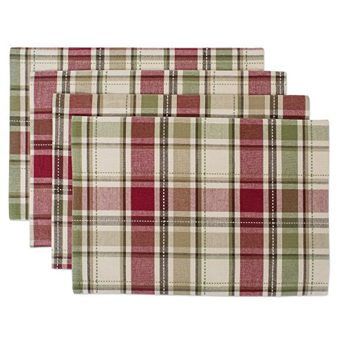 DII Cotton Placemat, Perfect for Fall, Thanksgiving, Friendsgiving and Dinner Parties, 13