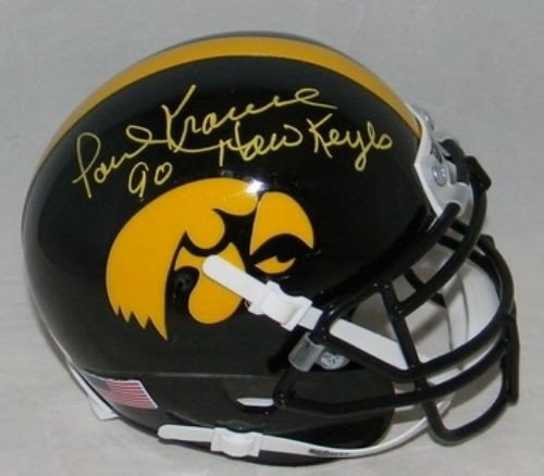 - Paul Krause Autographed Iowa Hawkeyes Mini Helmet - JSA Authentication