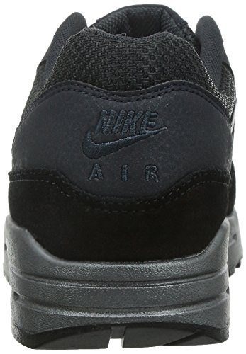 Nike Vrouwen Air Max 1 Premie Laag Top Lace Up Running Sneaker Antraciet / Mtlc Hematiet-zwart