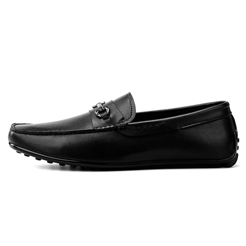 XHD-Schuhe Herren Komfortable Echtes Leder Lässige Slipper Loafer Schuhe (Farbe Mokassins Driving Schuhe (Farbe Schuhe   schwarz-1, Größe   41 EU) e05876