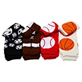 football baby leg warmers - Sporty 4 Pack of Baby & Toddler Leg Warmers for boys by juDanzy