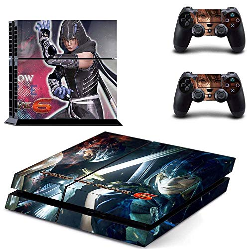 PS4 Console and 2 Controller Vinyl Skin Cover Set Protective Playstation 4 Gaming - Dead or Alive 6 by Mr Wonderful Skin
