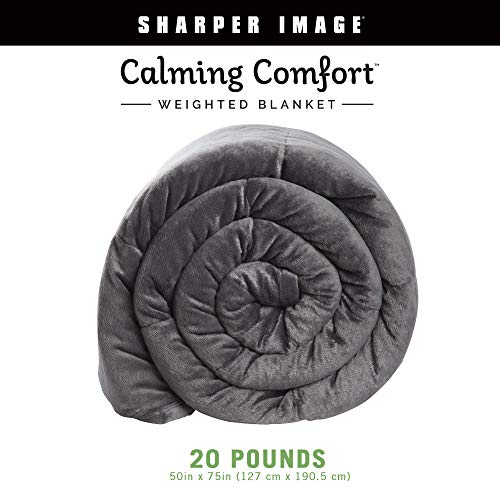 Cheap Calming Comfort Weighted Blanket by Sharper Image- A Heavy Blanket| 20 lb. 50