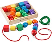 Melissa & Doug Primary Lacing Beads (Developmental Toys, Easy to Assemble, 30 Beads and 2 Laces, Best for