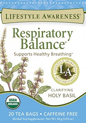 Lifestyle Awareness Teas, Caffeine Free Respiratory Balance Tea, 20 Count (Pack of 6)