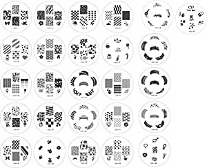 Great Value And Quality Set of 26 Nail Art / Nailart Stamp Plates / Stamper Templates With 160 Designs By VAGAGreat Value And Quality Set of 26 Nail Art / Nailart Stamp Plates / Stamper Templates With 160 Designs By VAGA