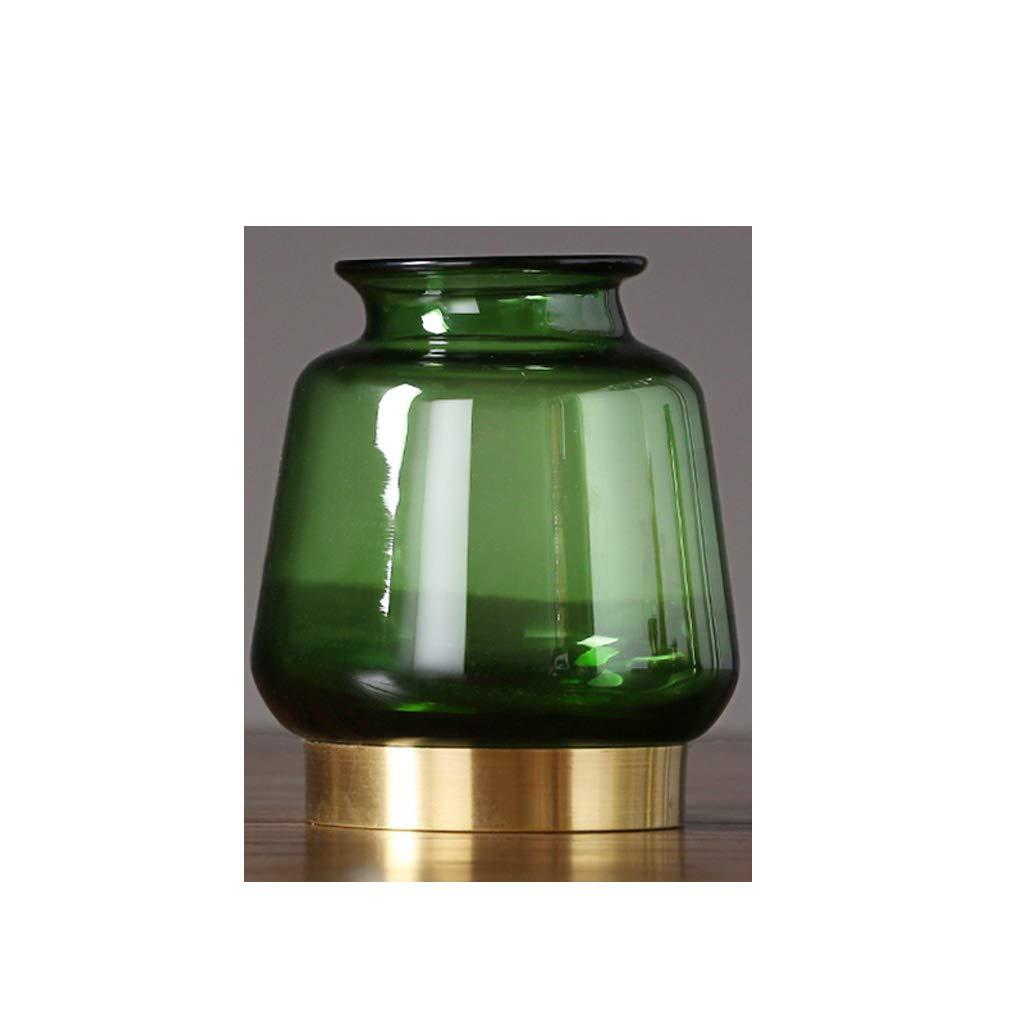 透明ガラス花瓶装飾/水耕植物用花瓶/緑 QYSZYG (Color : 9×18×23cm) B07RL16NHP 9×18×23cm