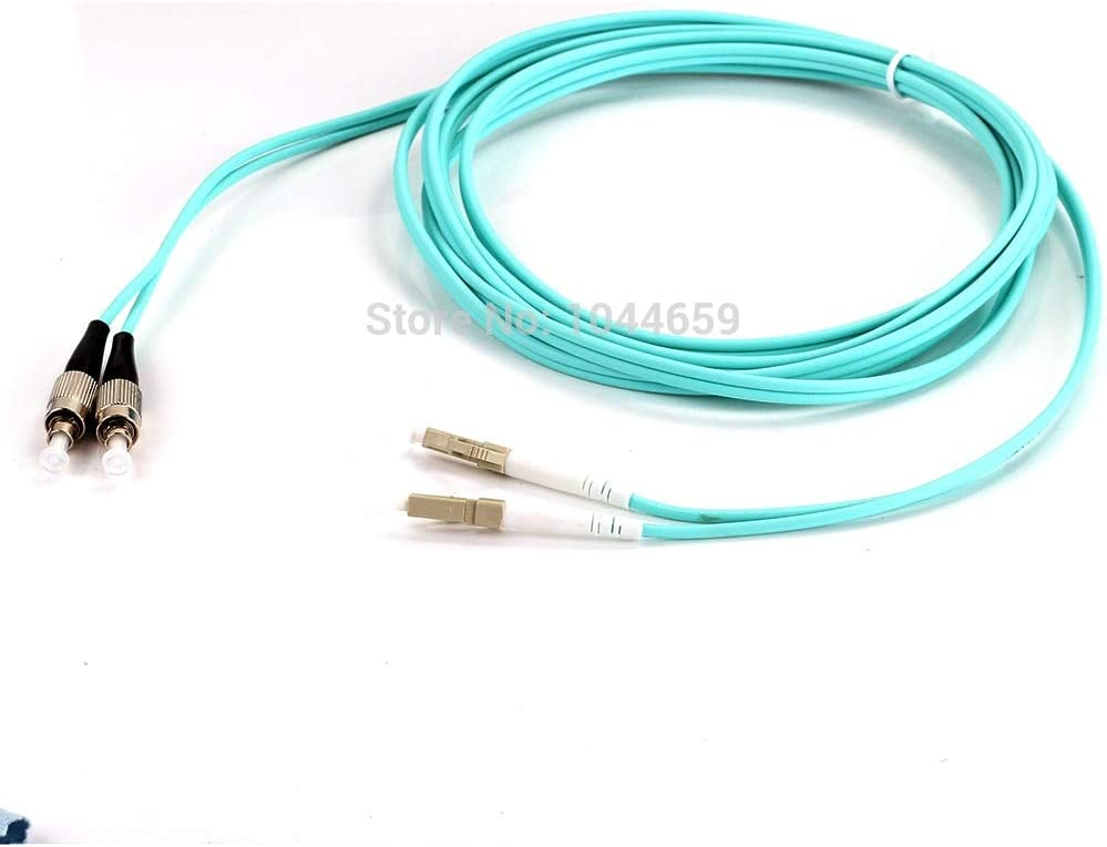 Computer Cables 3M LC-FC Duplex Multimode 10 Yoton 50//125 MULTIMODE Fiber Optic Cable OM3 Patch Cord Jumper Cable for Network Cable Length: 3m, Color: Blue