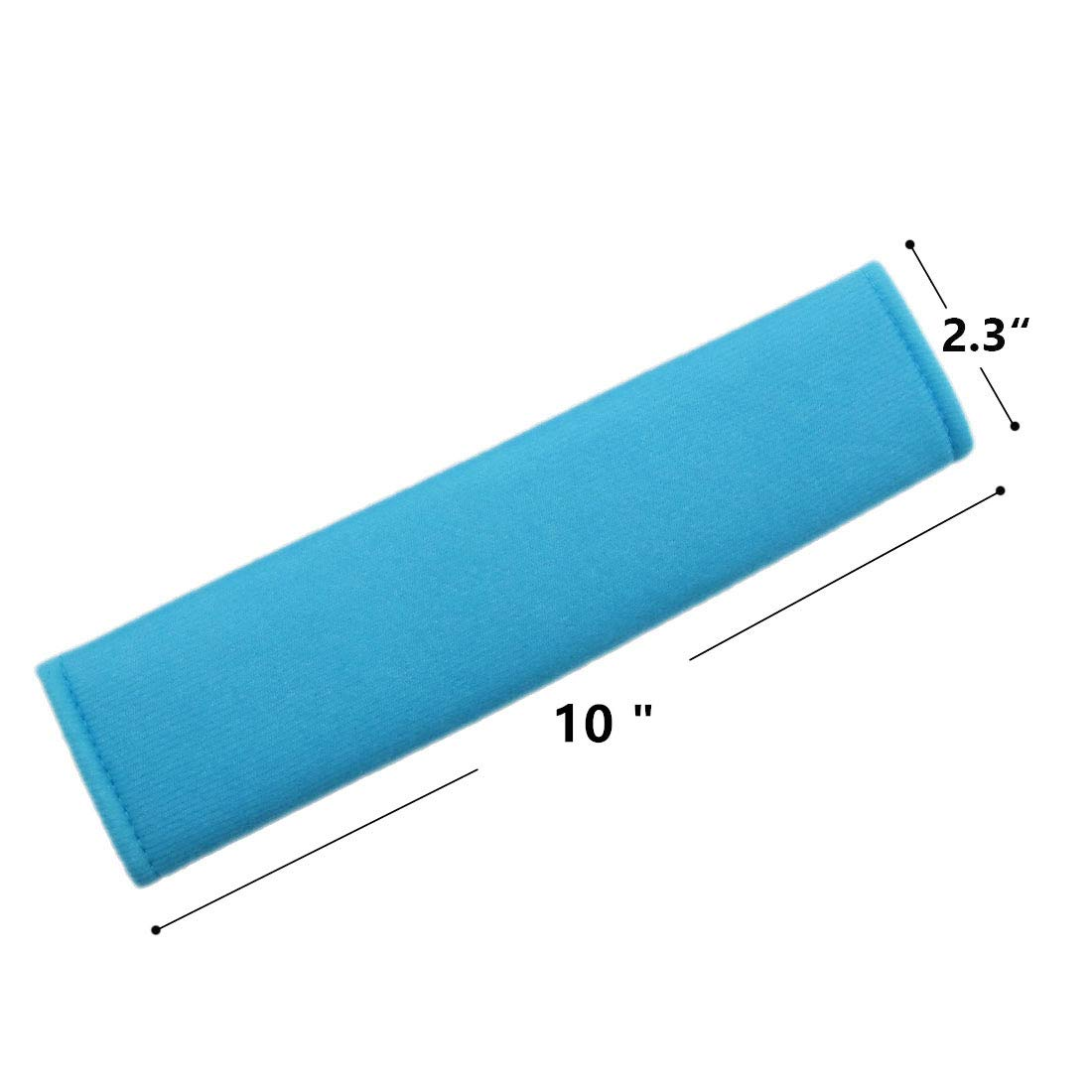 MIRKOO Car Seat Belt Cover Pad Laptop Computer Bag Backpack 4-Pack Soft Car Safety Seat Belt Strap Shoulder Pad for Adults and Children Blue-4P Shoulder Bag Suitable for Car Seat Belt