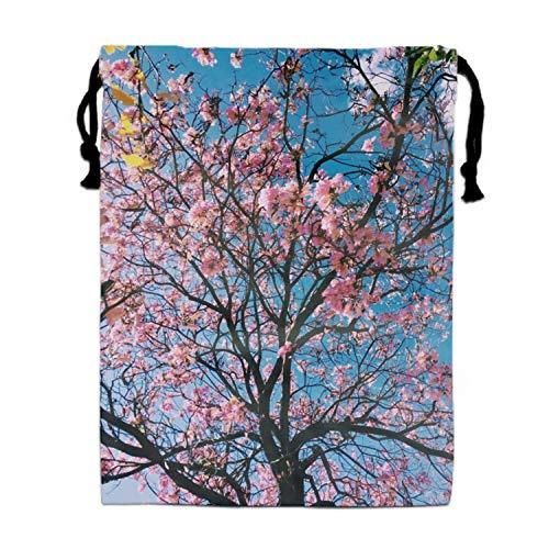 (Drawstring Gym Sport Bag Blossom Cherry Blossom Tree Durable Bag for Teen)