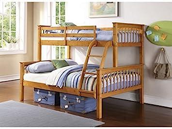 Comfy Homes Novaro Pinewood Triple Bunk Bed In Pine Bottom Bunk 4ft