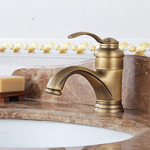 Kupfer antik teekanne kurze becken waschbecken tap kalten und warmen wasserhahn