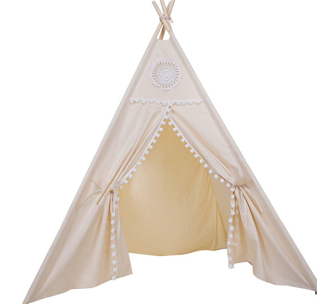 Tuch-Kunst-Zelt, Kind-Innenzelt-Große Jungen und Mädchen Spiel-Haus-Kind-Raum-Probenraum speichert dekoratives Zelt 110  110  160CM