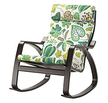 Ikea Poang Rocking Chair Black Brown With Cushion