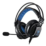 Micolindun Gaming Headset for PS4 Xbox One, 3.5mm Over Ear Gaming Headphones with Mic, Stereo Bass Surround, Noise Reduction and Y Splitter for Laptop, PC, Mac, iPad, Computer, Smartphones
