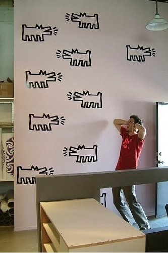 Blik Pack Of Dogs Wall Stickers By Keith Haring Part 64