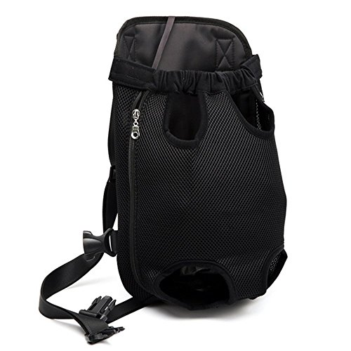 zswell Pet Carrier Backpack, Adjustable Pet Front Cat Dog Carrier Backpack Travel Bag Easy-Fit for Traveling Hiking Camping Bike and Motorcycle (L, Black) Review
