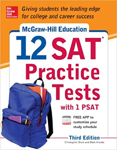 Printables Psat Math Practice Worksheets mcgraw hill education 12 sat practice tests with psat 3rd edition christopher black mark anestis 9780071822916 amazon com b