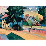 Oil painting 'View of Murnau,1908 By Vassily Kandinsky' printing on high quality polyster Canvas , 10x14 inch / 25x35 cm ,the best Game Room gallery art and Home artwork and Gifts is this Amazing Art Decorative Canvas Prints