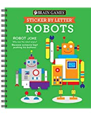 Brain Games - Sticker by Letter: Robots (Sticker Puzzles - Kids Activity Book)