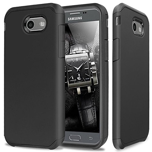 Galaxy J7 V Case, Galaxy J7 Prime, Galaxy J7 Perx, Galaxy Halo, Galaxy J7 Sky Pro, Galaxy J7 2017, Daker Shockproof Drop Protection Rugged Armor Case for Samsung Galaxy J7 2017 (Black)