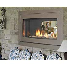 Majestic WST500SSDK See-Thru Outdoor Glass Facing Kit in Stainless Steel (Fireplace Sold