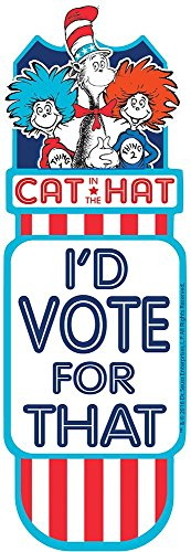 Eureka Bookmarks, Cat in the Hat for President (834209)