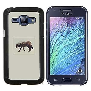 LECELL--Funda protectora / Cubierta / Piel For Samsung Galaxy J1 J100 -- Elk Arte --