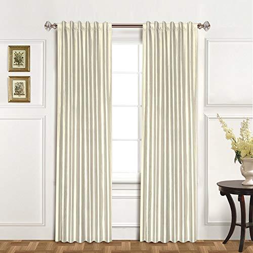- United Curtain 100-Percent Dupioni Silk Window Curtain Panel, 42 by 84-Inch, Oyster