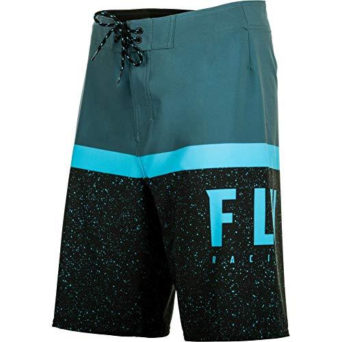 Fly Racing Mens Swim Trunk Boardshorts - Blue - 40 - Shorts Racing Mens
