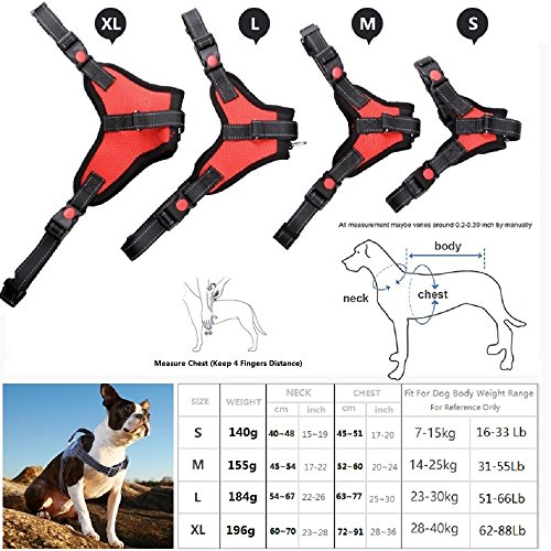 51XJD1CIK4L._SS500_ kimigo sport dog safety vest harness, outdoor front range soft pet