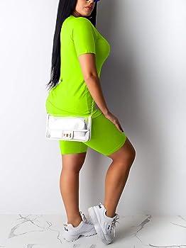 Sport Tracksuit Set Short Sleeve T Shirts Shorts Set Stripe Side Outfit Set Pajamas Set Sweatsuit Womens Outfit 2 Piece