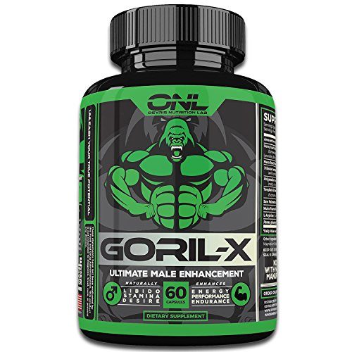 GORIL-X - Ultimate 6-IN-1 Male Enhancement (60 Capsules) Increase Size, Libido, Performance, Hardness, and more! #1 Male Enlargement Pill - Gain Confidence in the Bedroom! Non-GMO Enhancing Formula! (Penis Enhancement Pill)