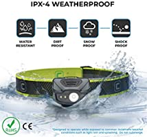 Adjustable 1 AA Batteries Included High+Low+Area+Running Modes CORE 100 Lumen CREE LED Headlamp Water Resistant Lightweight