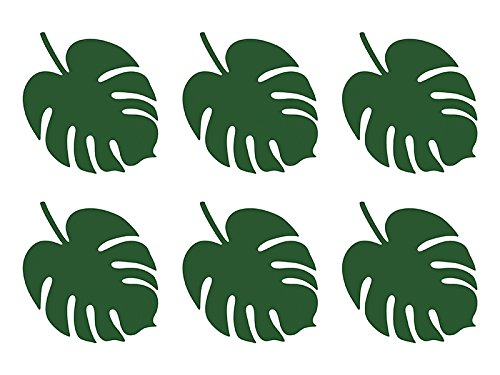 Party Deco Aloha Tropical Leaves Place Cards x 6
