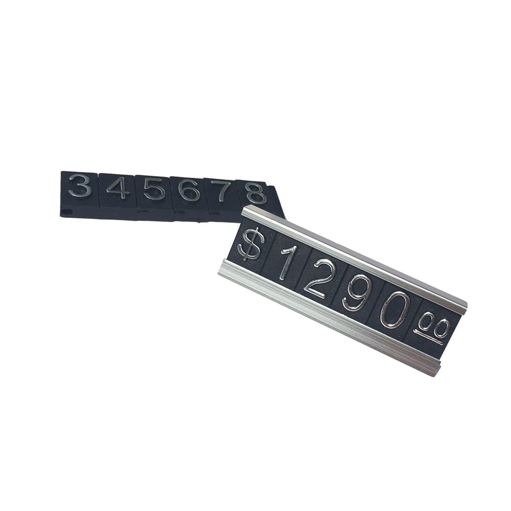 Do4U Counter Stand Label Tag Metal Arabic Price Tag Adjustable Sale Price Display Stand For Retail Shop 12 Sets (Silver) by Do4U (Image #3)