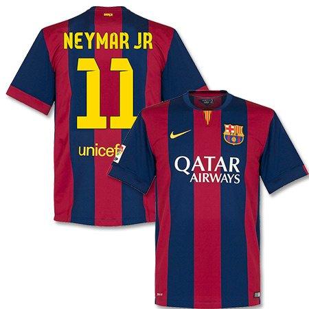 Barcelona Home Neymar Jr Jersey 2014 / 2015 (Fan Style Printing) - L