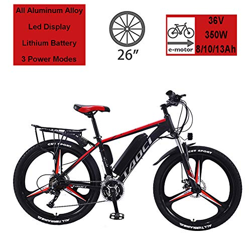 Hyuhome Electric Bikes for Adult, Magnesium Alloy Ebikes Bicycles All Terrain,26″ 36V 350W 13Ah Removable Lithium-Ion Battery Mountain Ebike for Mens