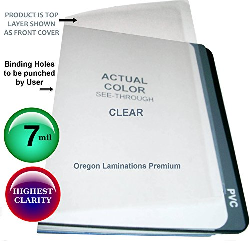 (Legal Clear Plastic Binding Covers 7 Mil Qty 100 Sheets 8-1/2 x 14 Business Reports)