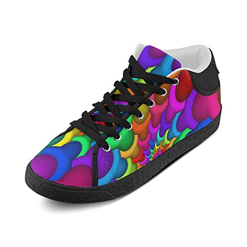 Canvas Spiral Psychedelic Men Model003 Chukka Artsadd Rainbow For Shoes qSIwW1C