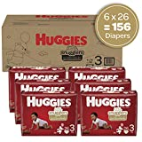 Baby Diapers Size 3, 156 Ct, Huggies Little Snugglers