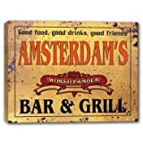 Amsterdam Kitchen N Bar AMSTERDAM'S World Famous Bar & Grill Stretched Canvas Print