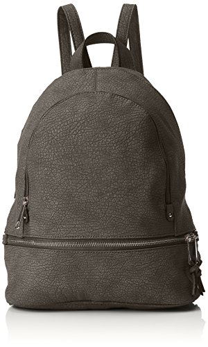 SwankySwans Women's Madrid Zipper Backpack Bag Backpack Handbag Grey (Grey)
