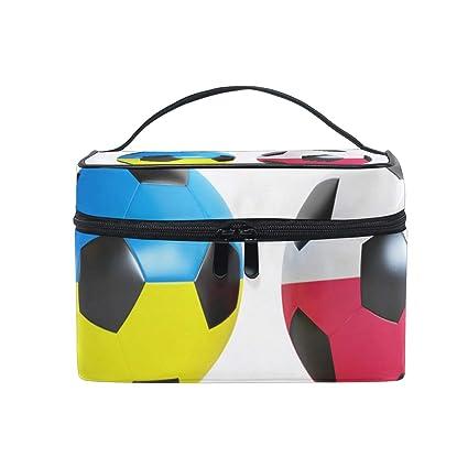 Bolsa de maquillaje para balón de fútbol portátil con cremallera ...