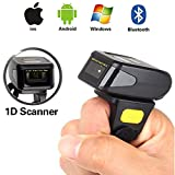 Blueskysea Portable Wearable Ring Barcode Scanner 1D Reader Mini Bluetooth Scanner 360mA battery