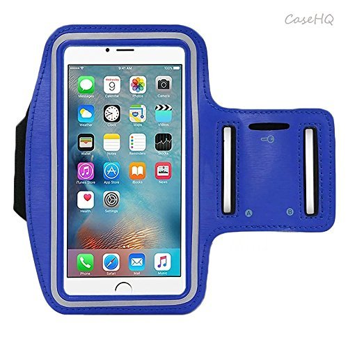- Universal Sports Armband for Apple iPhone 7/7 Plus iPhone 6/6s Plus Samsung Galaxy S7/S6/S5 Sweatproof Running ArmBelt With Small Holder & Pouch for Keys Card 4.5 inch- 5.7 inch Screen