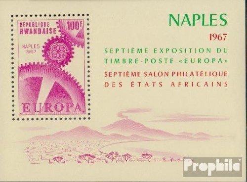 Prophila Collection Ruanda Block 8A 1969 Esposizione di francobolli Francobolli per i Collezionisti Completa Edizione